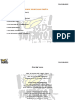 6. Lista de Los Temas y Letras