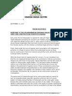 Uganda Response to Amb Malac September 2017