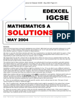 Paper 4h May 2004 Solutions Edexcel Igcse