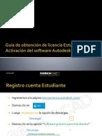 Guía de Obtención de Licencia Estudiantil y Activación Del Software Autodesk