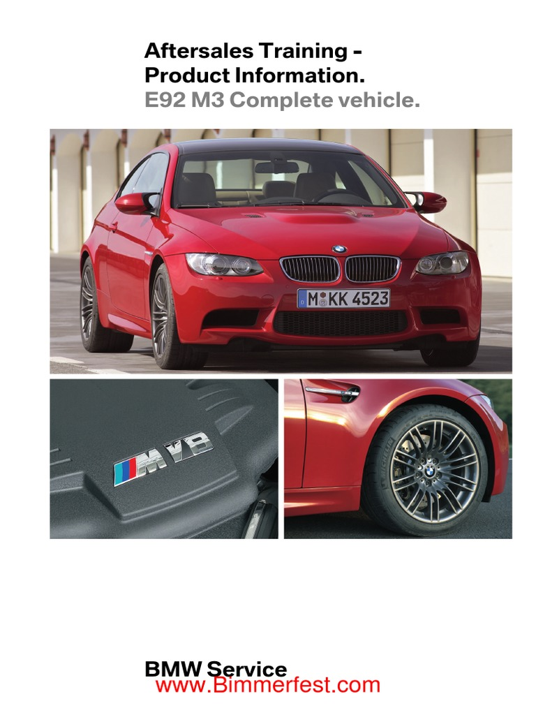 Bmw Aftersales Training Product Information E92 M3 Complete S65 Engine Diagram Vehicle Internal Combustion Automotive Technologies