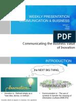 WEEKLY PRESENTATION Communication Business 2