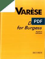 Varese - Dance for Burgess