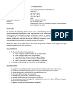 Course Description-Computer Organisation and Architecture