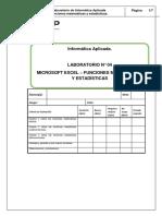 Lab 04 - Excel 2013 - Funciones Matematicas y Estadisticas