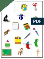 School Objects Blank