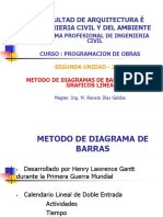 Diagrama de Barras Gantt o Gráficos Lineales