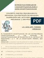 Material de Practica Forense de Acciones de Inconstitucionalidad y Controversias Constitucionales