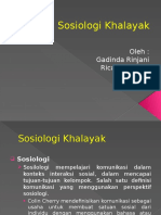 Sosiologi Khalayak