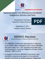Edmonton Police Service presentation on MMIWG