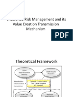 ERM and Value Creation Transmission Mechanism and Multifactor Model of Risk and Return Through ERM Framework