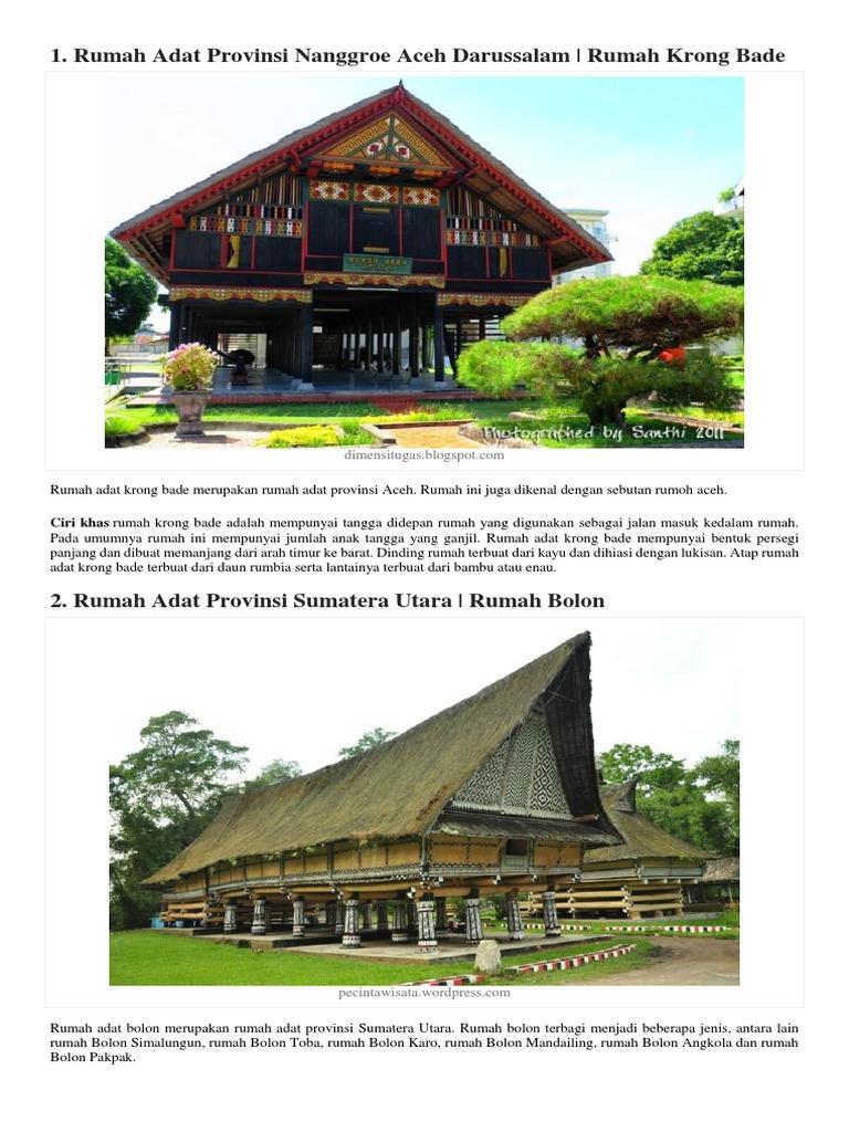 Gambar Rumah Adat Aceh Beserta Keterangannya