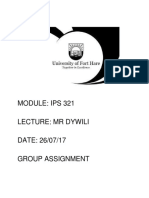 Ips 321 Assignment