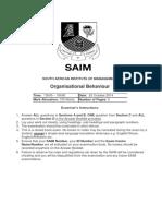 2014 10 Organisational Behaviour Examination