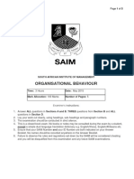 Organisational Behaviour May 2015