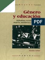 Sandra Acker - Género y educación. Reflexiones sociológicas sobre mujeres, enseñanza y feminismo.pdf