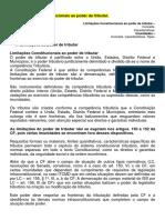 AULA Nº 09 - Limitações constitucionais ao poder de tributar