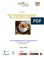 Bases XII Concurso Nacional Del Cafe 2016