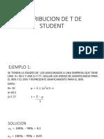 Distribucion de t de Student