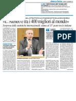 """""""L'Ateneo è tra i migliori 400 al mondo"""" - Il Resto del Carlino del 19 settembre 2017"""