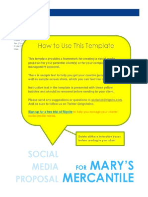 Social Media Proposal Template Docx Digital Social Media