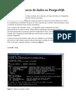 CriandoBancoDeDadosNoPostgreSQL