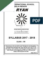 Ryan class Viii Syllabus (1)