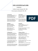 Liederkreis op.39 traducciones