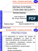Operating Systems-protection and Security
