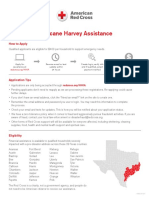 Hurricane Harvey Financial Assist Infographic