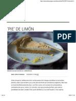 'Pie' de limón