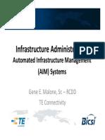 Infrastructure Admin TIA-606-B