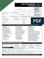 Short Term Application Form