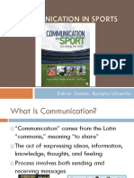 4- Communication in Sports