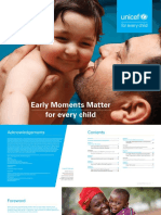 UNICEF Early Moments Matter for Every Child Report
