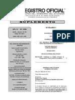 Registro Oficial N° 1008 Ley Orgánica Reformatoria a las Leyes que Rigen el Sector Público