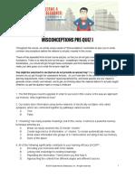 06 Misconceptions Pre-Quiz I