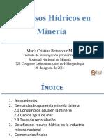 01.- Recursos Hidricos en Mineria