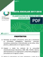 Inicio de Año Escolar Año 2017-2018 Fiesta Escolar Definitivo