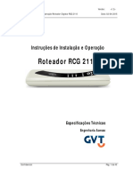 Manual de Instalação Configuração e Operação Roteador RCG 2110 Rev1.2