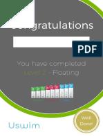 Level 2 Uswim Certificate