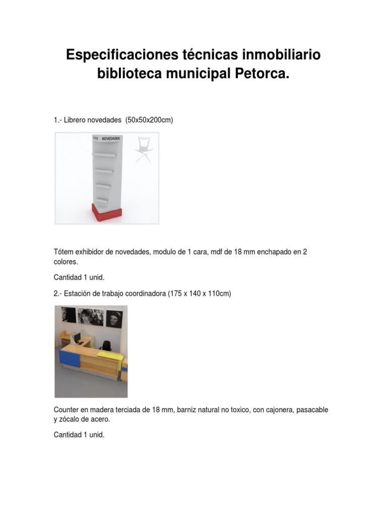 Especificaciones Biblioteca Docx