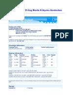 KLM Ticket Larz