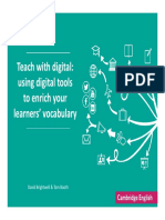 Using Digital Tools for Vocabulary Teaching