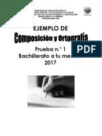 Practica Produccion Textual Bachillerato a Tu Medida 01 2017