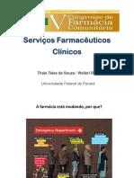 Palestra v Cfac Congresso Aracaju Serviços Farmacêuticos Clínicos