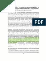 Estudios Culturales, Poscoloniales y Subalternos