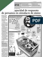 Se medirá respuesta de peruanos en simulacro de sismo