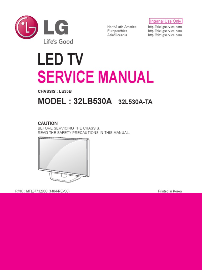 32lb530a ta lb35b service manual printed circuit board soldering rh scribd com Specifications LG 3D TV 32 Inches lg 32 inch lcd tv owner's manual