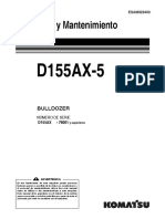o&m d155ax-5b Series 76001-Up Español
